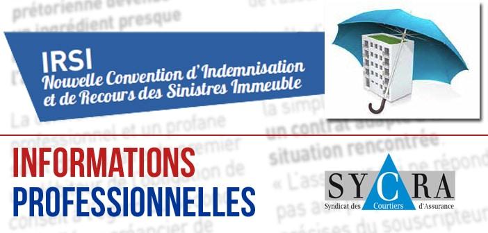 IRSI – Nouvelle Convention d'Indémnisation et de Recours des Sinistres Immeubles